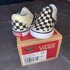 VANS Classic Slip on checker board infant 2.5